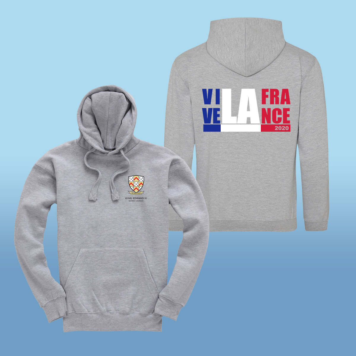 King Edward Vi School France Trip 2020 Hoodies