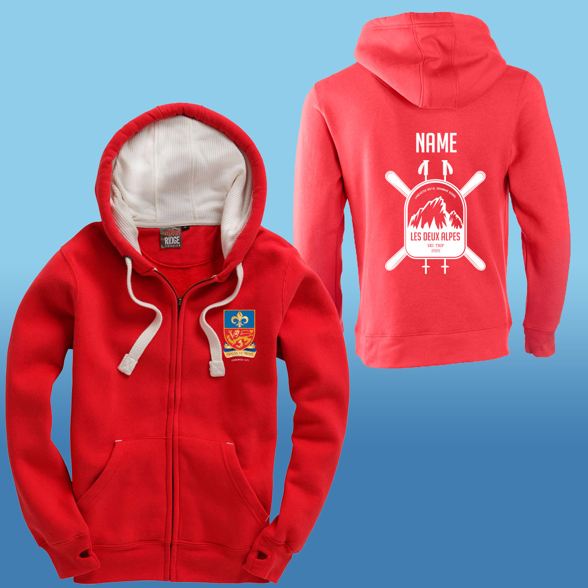 Lancaster Royal Grammar School Ski Trip Hoodies
