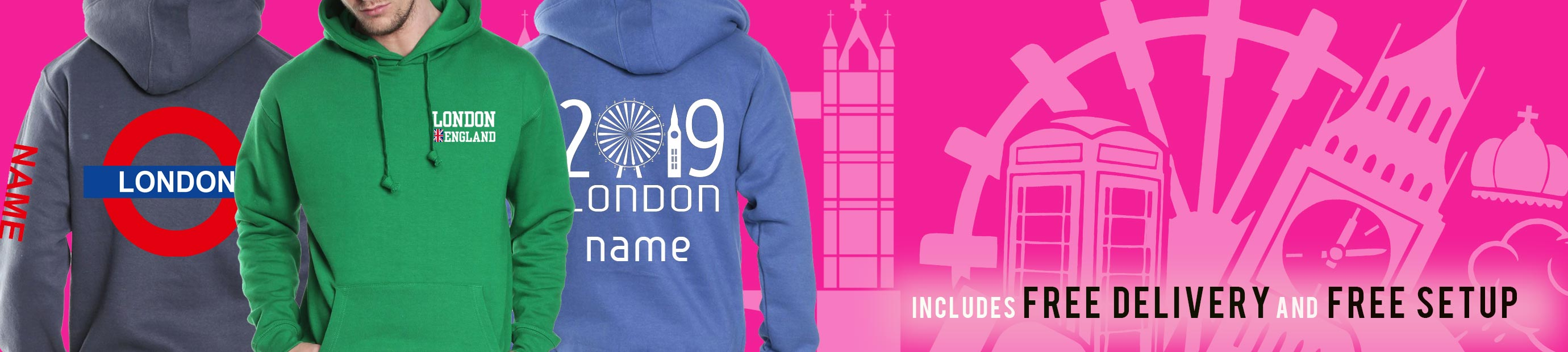 London Trip Hoodies from Superlogo