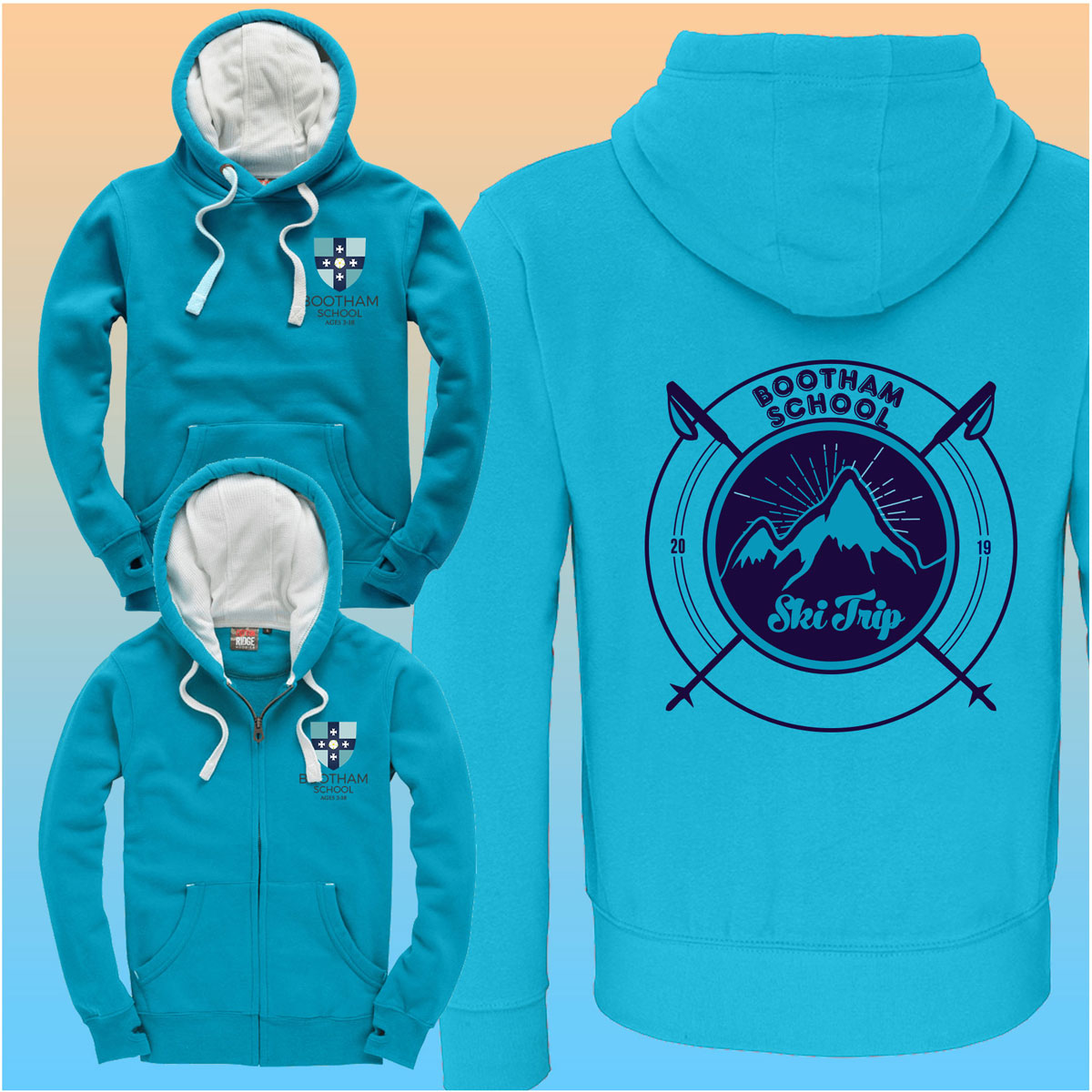 Bootham School Ski Hoodies